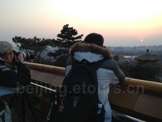 Jingshan Hill is a good place to view sunset in Beijing1