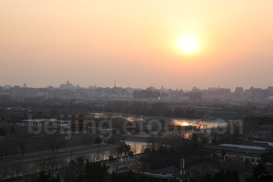Sunset viewed from Jingshan Hill